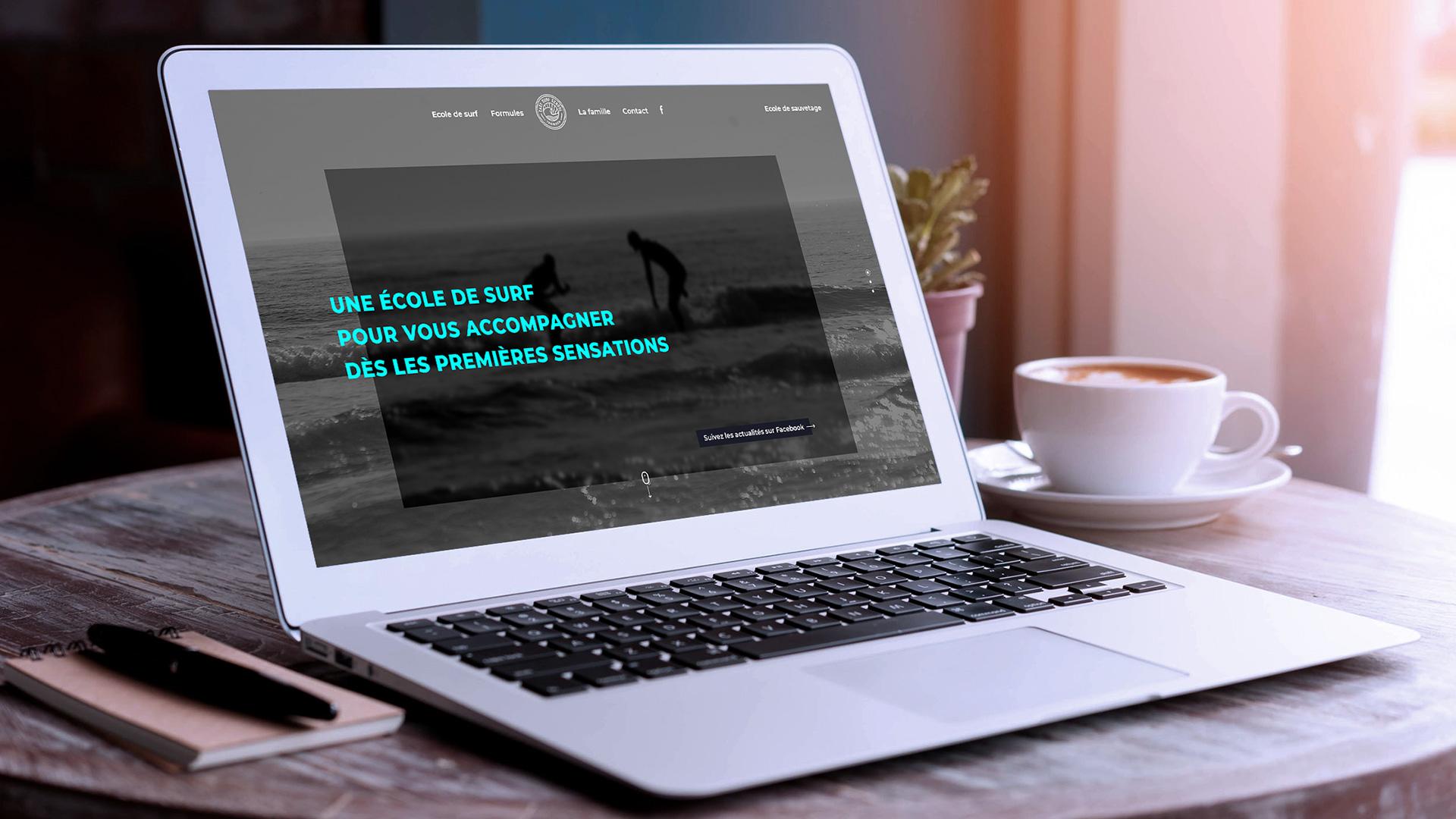 Refonte du site internet de Easy Surf School, école de surf à Tronoen, Saint Jean Trolimon. Mockup.