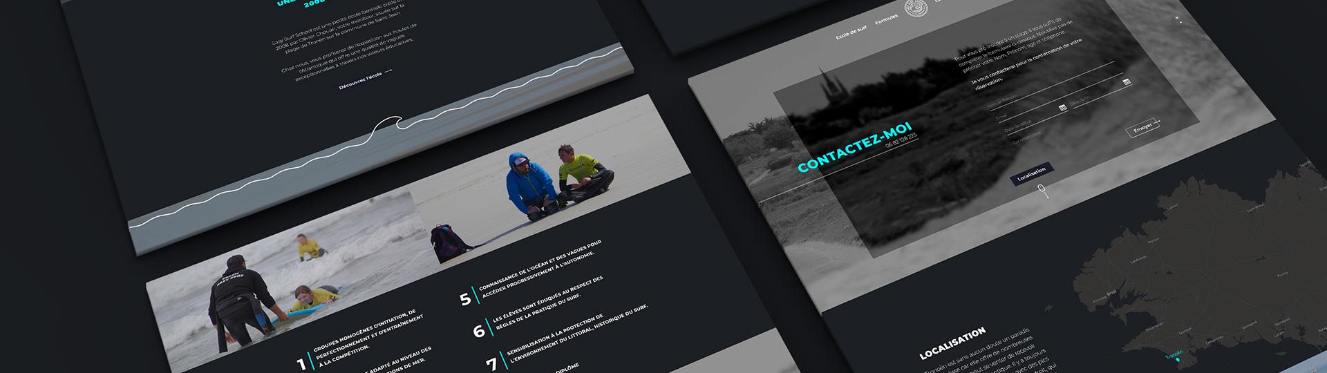 Refonte du site internet de Easy Surf School, école de surf à Tronoen, Saint Jean Trolimon.