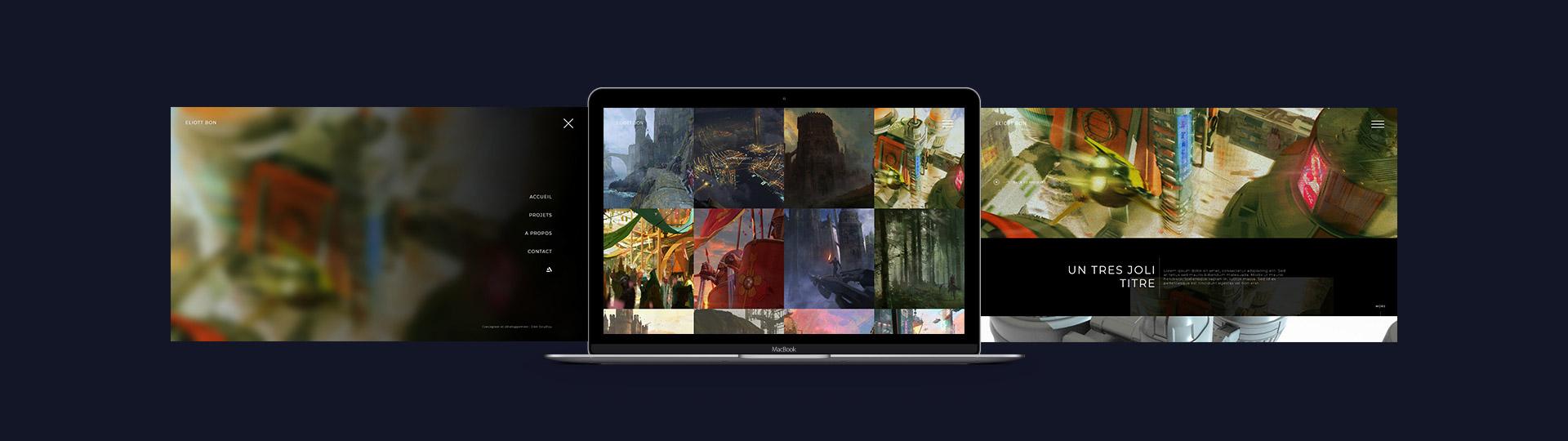 Création du site internet du concept artist Eliott Bon
