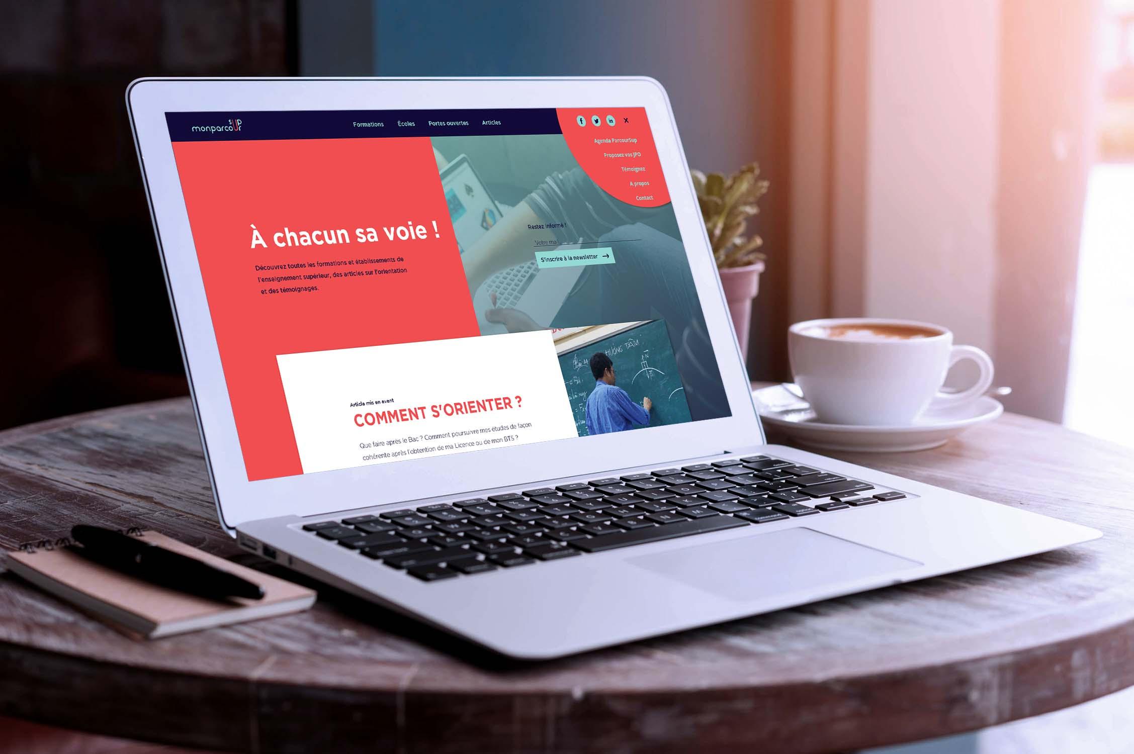Conception et développement du site internet de monparcoursup